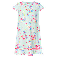 Buy John Lewis Girl Vintage Floral Nightie, Blue/Multi Online at johnlewis.com