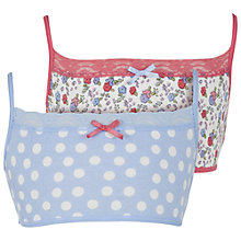 Buy John Lewis Girl Floral and Spot Crop Tops, Pack of 2, Multi Online at johnlewis.com