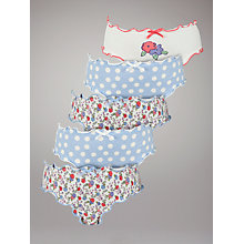 Buy John Lewis Girl Floral and Spot Briefs, Pack of 5, Multi Online at johnlewis.com