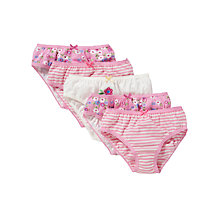 Buy John Lewis Girl Bold Floral Briefs, Pack of 5 Online at johnlewis.com