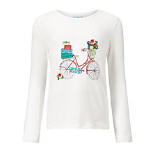 Buy John Lewis Girl Bike T-Shirt, Cream Online at johnlewis.com