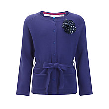 Buy John Lewis Girl Belted Corsage Cardigan Online at johnlewis.com