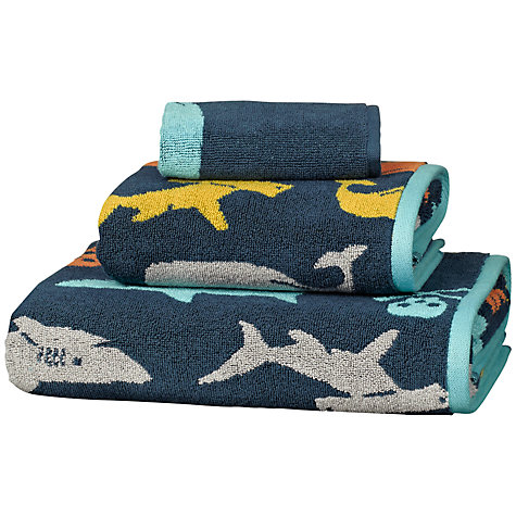 Buy little home at John Lewis Walk The Plank Towels, Blue Online at johnlewis.com