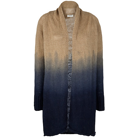 Buy People Tree Jessica Cardigan, Beige/Navy Online at johnlewis.com