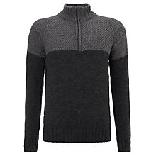 Buy Joe Casely-Hayford for John Lewis Velocette Colour Block Jumper, Charcoal Online at johnlewis.com
