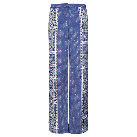Buy Mango Contrasted Palazzo Trousers, Blue Online at johnlewis.com