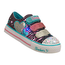 Buy Skechers Twinkle Toes Triple Time Trainers Online at johnlewis.com