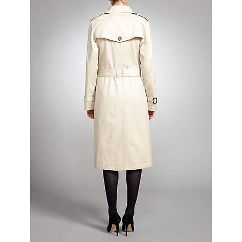 Buy Four Seasons DB Trench Coat, Natural Online at johnlewis.com