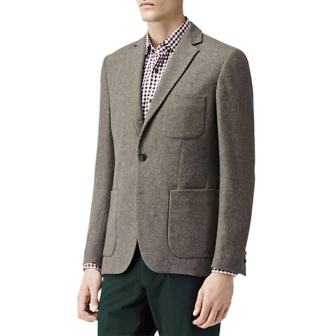 Buy Reiss Clinton Lightweight Patch Pocket Blazer, Deer Online at johnlewis.com