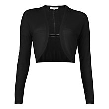 Buy L.K. Bennett Lace Hole Shrug, Black Online at johnlewis.com