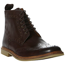 Buy Bertie Chiswick Brogue Boot, Brown Online at johnlewis.com