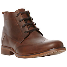 Buy Bertie Cludeo Wing Tip Boots, Tan Online at johnlewis.com