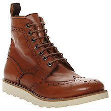 Buy Bertie Colindale 2 Leather Brogue Boots, Tan Online at johnlewis.com