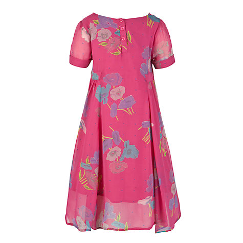 Buy John Lewis Girl Georgette Dress, Berry Online at johnlewis.com
