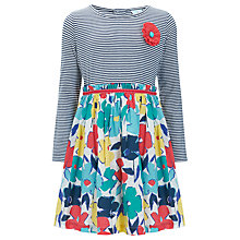 Buy John Lewis Girl Floral and Striped Dress, Multi Online at johnlewis.com