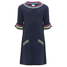 Buy John Lewis Girl Knitted Rainbow Stripe Dress, Navy Online at johnlewis.com