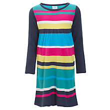 Buy John Lewis Girl Knitted Striped Dress, Multi Online at johnlewis.com