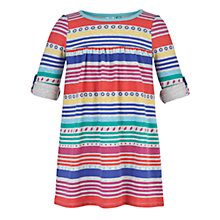 Buy John Lewis Girl Striped Dress, Grey/Multi Online at johnlewis.com