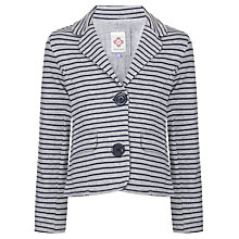 Buy John Lewis Girl Striped Blazer, Grey/Navy Online at johnlewis.com