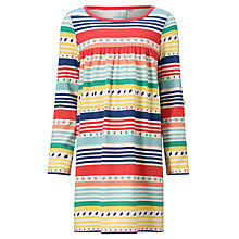 Buy John Lewis Girl Striped Dress, Multi/Oatmeal Online at johnlewis.com