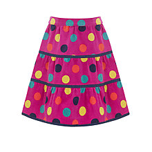Buy John Lewis Girl Tiered Spotted Corduroy Skirt Online at johnlewis.com