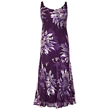 Buy Chesca Floral Devoree Dress, Purple Online at johnlewis.com