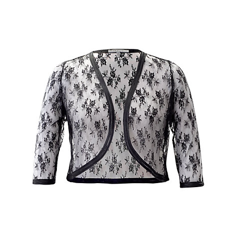Buy Chesca Lace Trim Bolero, Black Online at johnlewis.com