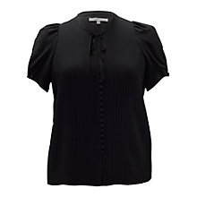 Buy Chesca Pleated Blouse, Black Online at johnlewis.com