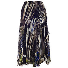 Buy Chesca Crush Pleat Skirt, Black/Blue Online at johnlewis.com