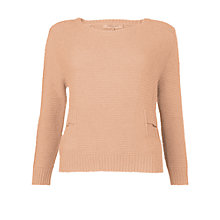 Buy L.K. Bennett Amanda Knitted Top, Blush Online at johnlewis.com