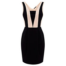 Buy Oasis Colour Block Panel Dress, Black/White Online at johnlewis.com