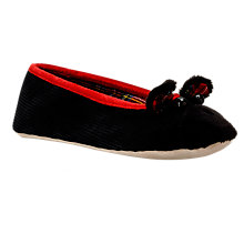 Buy Radley Highland 3D Embroidered Dog Slippers, Black Online at johnlewis.com