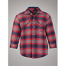 Buy Tommy Hilfiger Boys' Mini Wellston Checked Shirt, Red/Navy Online at johnlewis.com