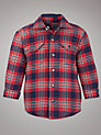Buy Tommy Hilfiger Boys' Mini Wellston Checked Shirt, Red/Navy, 2 years Online at johnlewis.com