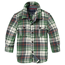 Buy Tommy Hilfiger Mini Harrisburg Long Sleeved Check Shirt, Green Online at johnlewis.com