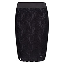 Buy Mango Tail Hem Lace Skirt, Black Online at johnlewis.com