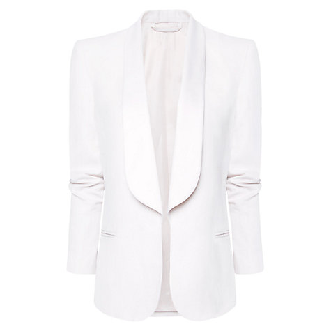 Buy Mango Smoking Blazer, Neutral Online at johnlewis.com