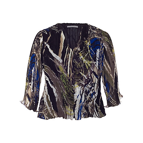 Buy Chesca Crush Pleat Top, Black/Blue Online at johnlewis.com