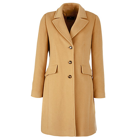 Buy Basler 3/4 Length Single Breasted Coat, Camel Online at johnlewis.com