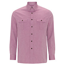 Buy Joe Casely-Hayford for John Lewis Hesketh Washed Herringbone Shirt, Red Online at johnlewis.com
