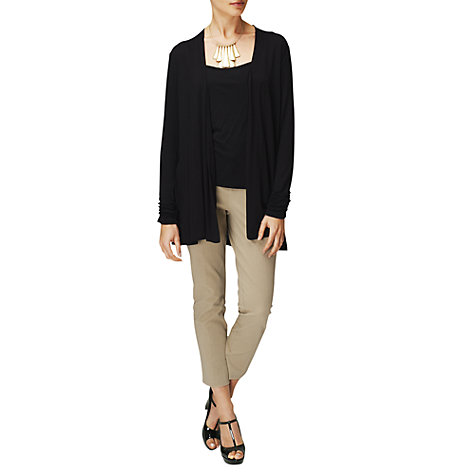 Buy Phase Eight Amrita Ruched Cardigan, Black Online at johnlewis.com