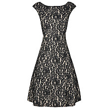 Buy Phase Eight Lace Fit And Flare Dress, Black/Nude Online at johnlewis.com