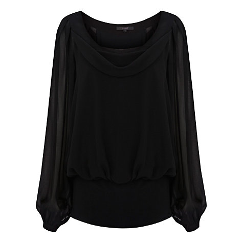 Buy Coast Katya Top, Black Online at johnlewis.com