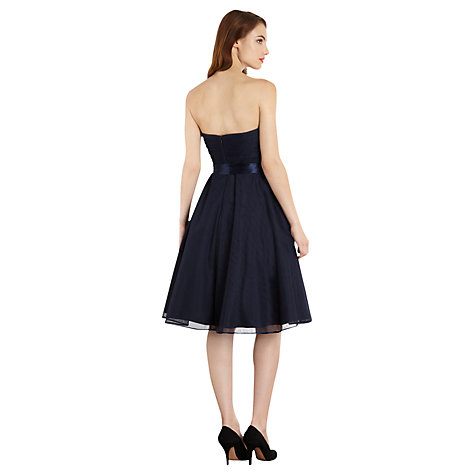 Buy Coast Verienne Dress, Navy Online at johnlewis.com