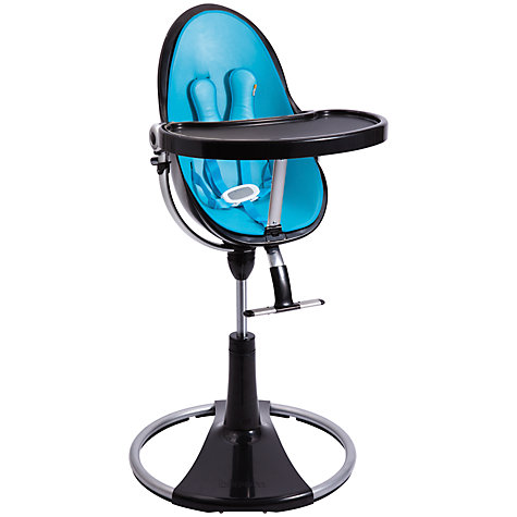Buy bloom Fresco Chrome Contemporary Leatherette Baby Chair, Black Online at johnlewis.com