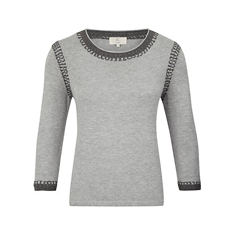 Buy CC Petite Stab Stich Jumper, Grey Marl Online at johnlewis.com
