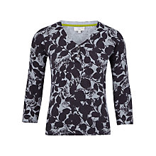 Buy CC Petite Silhouette Leaf Print Jumper, Silver Grey Online at johnlewis.com
