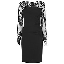 Buy L.K. Bennett Lara Lace Sleeve Dress, Black Online at johnlewis.com