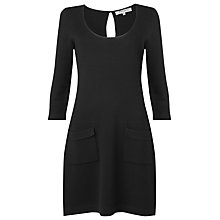 Buy L.K. Bennett Milano Stitch Dress, Black Online at johnlewis.com