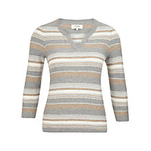 Buy Viyella Petite Stripe Jumper, Camel Online at johnlewis.com
